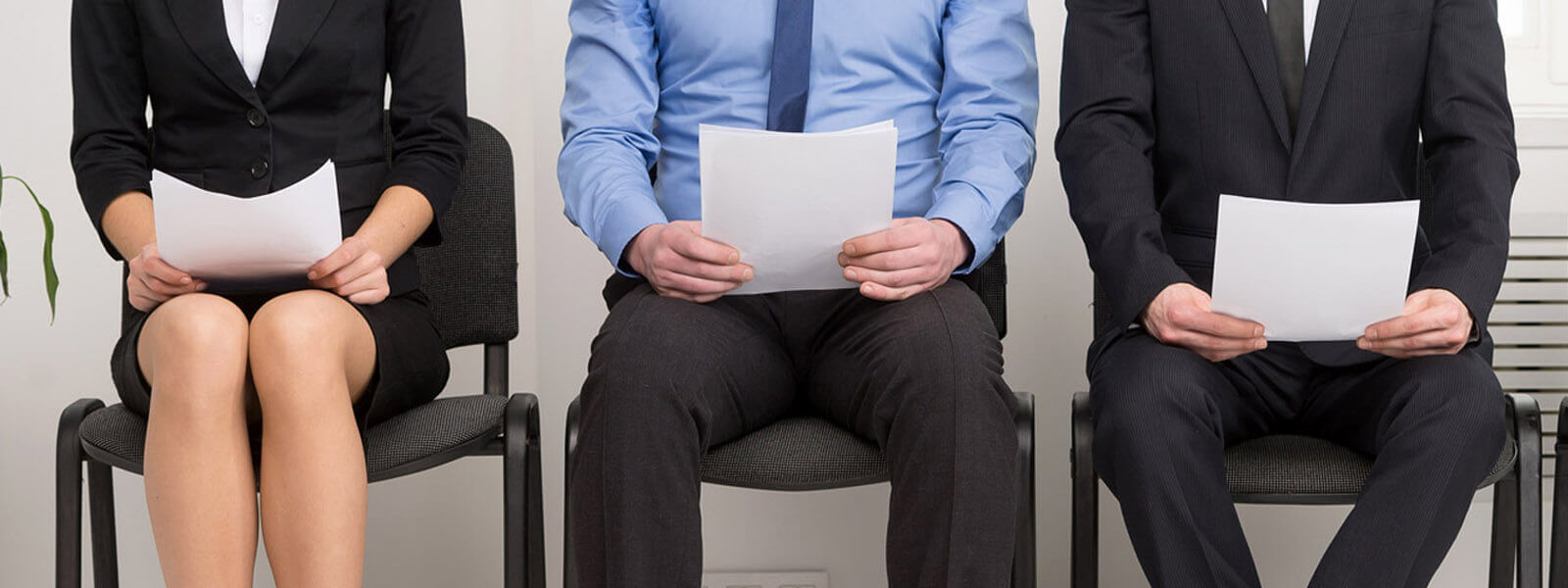 Pre-employment Employees waiting to be interviewed through handwriting analysis